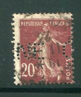 FRANCE- Perforé Y&T N°139- Oblitéré - Perforés