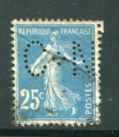 FRANCE- Perforé Y&T N°140- Oblitéré - Perforés