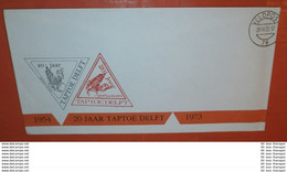 NIEDERLANDE VELDPOST 29.08.1973 - 20 Jahre TAPTOE DELFT - Brief Cover (2 Foto)(37454) - Poststempel