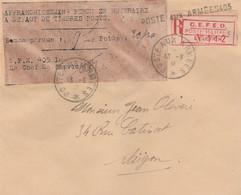INDOCHINE FRANCAISE  VIETNAM  LETTRE MILITAIRE AVEC CACHET D'ARRIVEE 1946 - Briefe U. Dokumente