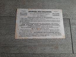Buvard Publicitaire Journal Des Vacances Cours Par Correspondance Crémieux Publicité - Kids