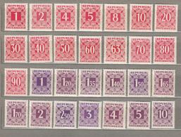 AUSTRIA OSTERREICH  Due Stamps 1949-1957 MNH (**) Mi 232-259 #21674 - 1945-60 Neufs