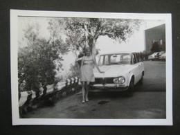 AUTO EPOCA VINTAGE CAR VOITURE ALFA ROMEO GIULIA - DONNA FEMME PIN UP WOMAN BLONDE ARENZANO 1969 GENOVA - Cars