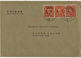 "1946, Fern-Bf. , MeF,  "" Hanau "" , *8B - Zone Anglo-Américaine"
