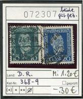 Deutsches Reich - Michel 368-369 - Oo Oblit. Used Gebruikt - Oblitérés