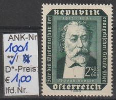 """1953 - ÖSTERREICH - SM """"Wiederaufbau D. Evang. Schule"""" 2,40S+60g Schw'blaugrün - ** Postfrisch - S. Scan (1001    At) - 1945-60 Neufs"""
