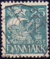 DENEMARKEN 1933 25öre Schip GB-USED - Oblitérés