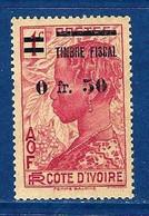"""Cote Ivoire Fiscal YT D49 """" Femme Baoulé, Surchargé """" 1938 Neuf* - Neufs"""