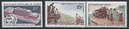 Congo-Brazzaville YT 260-262 Neuf Sans Charnière - XX - MNH Train - Mint/hinged
