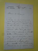 Letre Autographe Etienne DRUMEL (1844-1897) Député Des Ardennes - Autographs