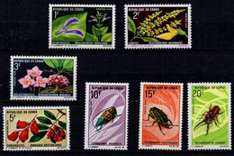 Congo-Brazzaville YT 268-274 Neuf Sans Charnière - XX - MNH Fleur Flower Insecte Insect - Mint/hinged