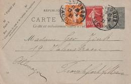 FRANCE  1921   ENTIER POSTAL/GANZSACHE/POSTAL STATIONARY CARTE DE AVIGNON - Cartes Postales Types Et TSC (avant 1995)