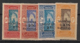 Dahomey - 1941 - N°Yv. 145 à 148 - Secours National - Neuf GC ** / MNH / Postfrisch - Unused Stamps