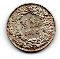 Suisse -  1/2 Franc 1928 B SUP - Schweiz