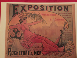 ROCHEFORT-sur-MER- 1898 - Affiche EXPOSITION COLONIALE_ Illustrateur GEORGES -Format A4 REPRODUCTION **SUP - Posters