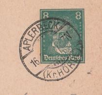 Deutsches Reich Karte Mit Tagesstempel Aplerbeck 1928 Kr Hörde Stadt Dortmund - Lettres & Documents