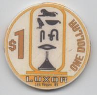 Jeton De Casino Luxor Las Vegas NV $1 (Diamètre 39 Mm) - Casino