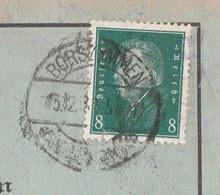 Deutsches Reich Karte Mit Tagesstempel Borszymmen Borschimmen 1930 Kr Lyck Borzymy RB Allenstein Ostpreussen - Lettres & Documents