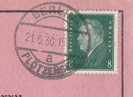 Deutsches Reich Karte Mit Tagesstempel Berlin 1930 Plötzensee Charlottenburg Nord - Lettres & Documents