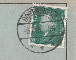 Deutsches Reich Karte Mit Tagesstempel Bobersberg 1929 Bobrowice Kreis Crossen Neumark Mit Werbung U Zeichnung - Lettres & Documents