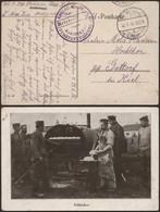 """Bataillon Allemand - Feldbäckerei (1916) + Briefstempel """"Kaiserl. Marine / Marinekorps Fuhrparkkolonne"""" - Deutsche Armee"""