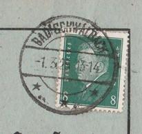 Deutsches Reich Karte Mit Tagesstempel Bad Schwalbach 1929 Lk Rheingau Taunus Kreis Mit Werbung U Zeichnung - Lettres & Documents