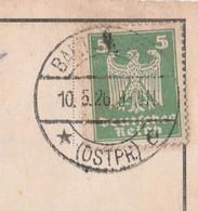 Deutsches Reich Karte Mit Tagesstempel Bartenstein 1926 Ostpr E Bartoszyce RB Königsberg Ostpreussen - Lettres & Documents