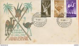 "Maroc;FDC 1957 "" Sahara Espagnol  "" 10 Abril 1957""Morocco;Marruecos - Maroc (1956-...)"