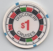 Jeton De Casino : Discovery Cruises $1 (Diamètre 39 Mm) - Unclassified