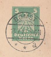 Deutsches Reich Karte Mit Tagesstempel Bomst 1927 Kr Schneidemühl RB Schneidemühl Grenzmark Posen Westpreussen - Lettres & Documents