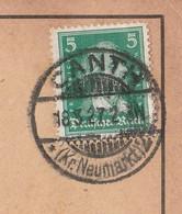 Deutsches Reich Karte Mit Tagesstempel Canth 1927 Kr Neumarkt Kanth Katy Wroclawskic Lk Breslau Schlesien - Lettres & Documents