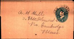 36227) Biglietto Postale Da 1 C. Franklin Degli Stati Uniti-bollo New York - Briefe U. Dokumente