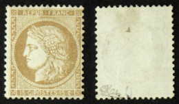 N° 59 - 15c Bistre CERES Neuf NSG TB Cote 150€ Signé Calves - 1871-1875 Cérès