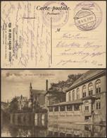 "Bataillon Allemand - Felpostkarte (Bruges 1915) + Cachet Avec Aigle ""Kaiserliche Marine / 3 Abt. D. Matrosen-Regiment"" + - Deutsche Armee"