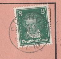 Deutsches Reich Karte Mit Tagesstempel Dünnow 1928 Duninowo Kr Stolp RB Köslin Pommern - Lettres & Documents