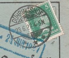 Deutsches Reich Karte Mit Tagesstempel Dühringshof 1927 Kr Landsberg Warthe Neumark Mit Werbung U Zeichnung - Lettres & Documents