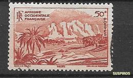 AOF 1947 Local Motives    USED - Oblitérés