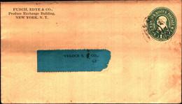 36242) Biglietto Postale Da 1 C. Franklin Verde Degli Stati Uniti-bollo New York - Briefe U. Dokumente