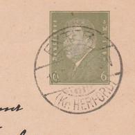 Deutsches Reich Karte Mit Tagesstempel Exter 1932 Ke Herford Stadt Vlotho - Lettres & Documents