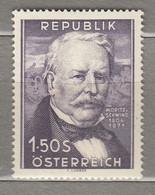 AUSTRIA OSTERREICH Famous People 1954 MNH(**) Mi 996  #21716 - 1945-60 Neufs