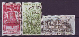 ITALY 1021-1023,used,hinged - 1946-60: Gebraucht