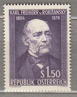 AUSTRIA OSTERREICH Famous People 1954 MNH(**) Mi 997  #21717 - 1945-60 Neufs