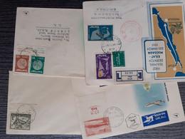 ISRAEL COVERS FIRST FLIGHT EILAT MASSAUA TEL AVIV YAFO - Briefe U. Dokumente