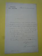 Lettre Autographe Frédéric GARNIER (1836-1905) Maire De ROYAN - Député De CHARENTE MARITIME - Autographs