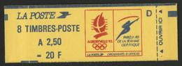 CARNET MARIANNE DE BRIAT 8 TP à 2,50 Fr Rouge N° 2715-C1 Cote 17 € Vendu à La Valeur Faciale 20 Fr = 3,05 € - Usage Courant