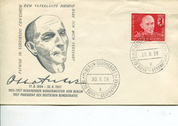 Berlino (1958) - Otto Suhr FDC - FDC: Enveloppes