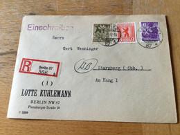 K17 Alliierte Besetzung 1946 R-Brief Von Berlin NW87 - Zone AAS