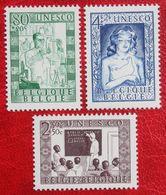LIQUIDATION UNESCO 1951 OBP 842-844 (Mi 884-886) POSTFRIS /MNH ** BELGIE BELGIUM - Neufs