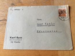 K17 Alliierte Besetzung 1948 Brief Von Wetzlar - Zone Anglo-Américaine