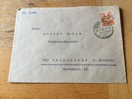 K17 Alliierte Besetzung 1948 Brief Von Verden - Zone Anglo-Américaine
